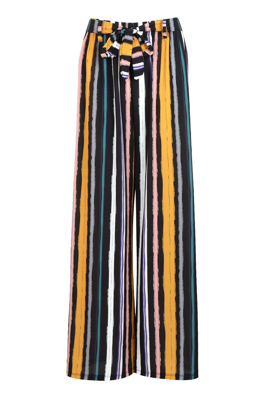 righe su tono tono Pantaloni palazzo con w1UxW6H