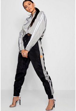 Womens Grey Shell Suit Jogger