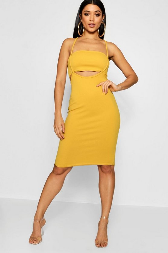 Cut out Detail Midi Dress
