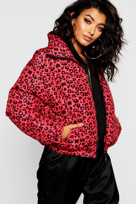 9236f1c86162 Leopard Print Puffer Jacket