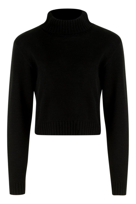 vuelto negro con Jersey corto cuello x7wtt6gqR