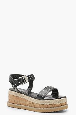 Stud Two Part Flatform Sandals