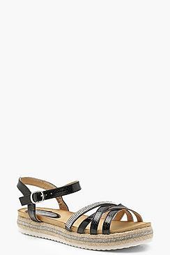 Strappy Espadrille Sandals