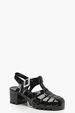 Jelly Low Block Sandals