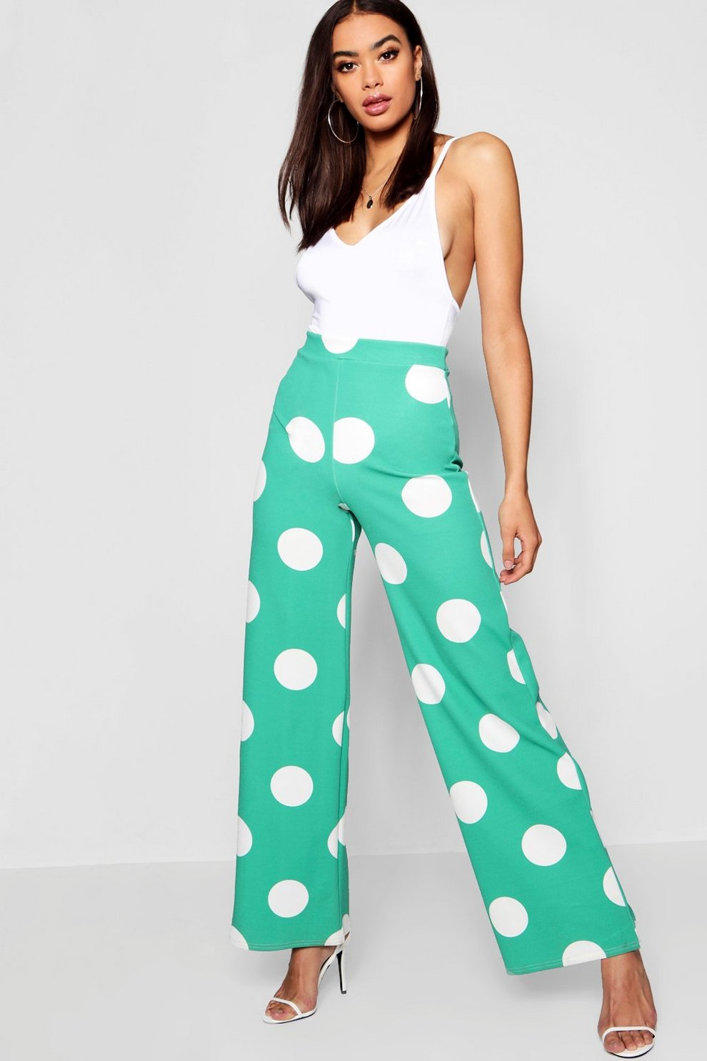 f33196594c8a8 Large Polka Dot Wide Leg Pants