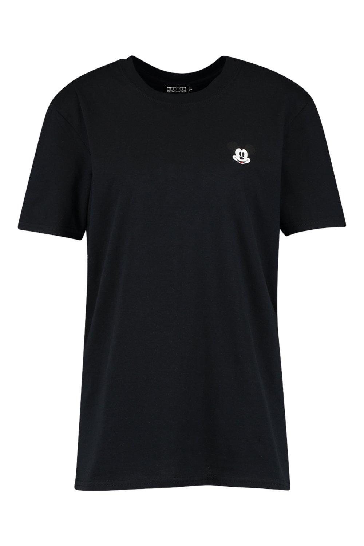 de Mickey Camiseta y bolsillo estampado negro con IxR0qH