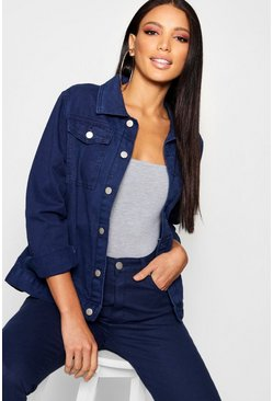 Womens Midnight Blue Denim Jacket