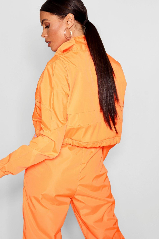 estilo cremallera fosforito Chaqueta corta naranja con camionero dIUOwYOq