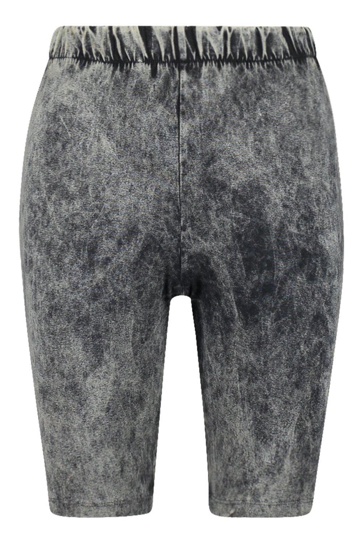 gris marengo ácido Shorts ciclista con lavado de 6USqCU
