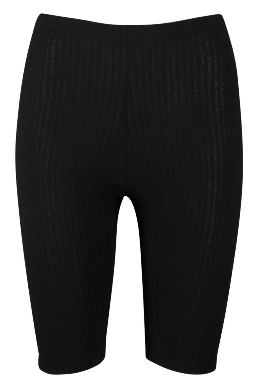Pantalones ciclista canalé punto cortos negro en de de w8rwqE7