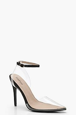 Clear Pointed Court Shoes
