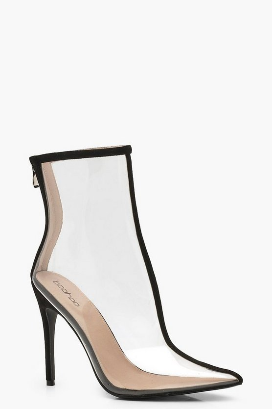 Pointed Clear Shoe Boots