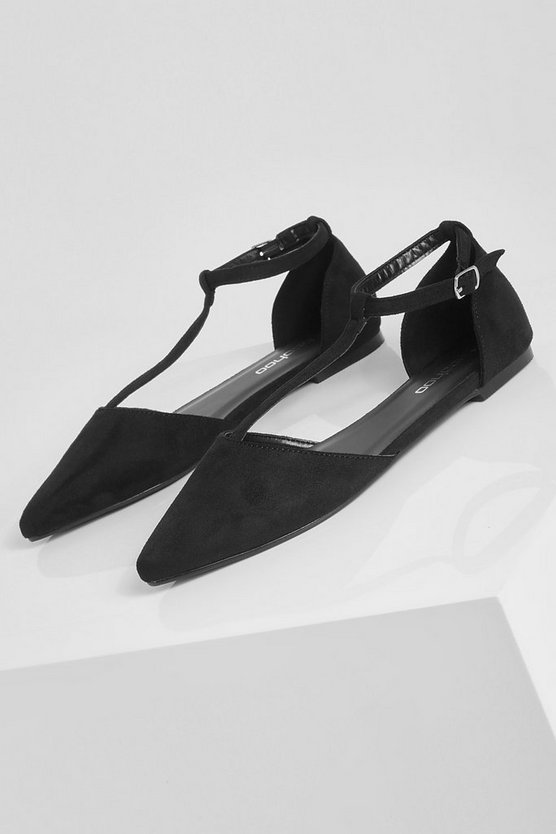 T Bar Pointed Flats