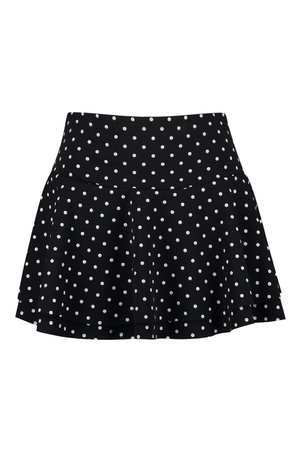 Dot Layer Double Polka Shorts black Ruffle OqTWwAa