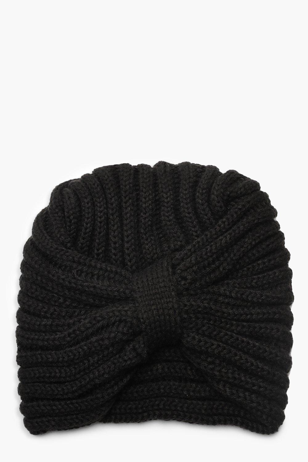 Twisted Knot Cable Knit Beanie