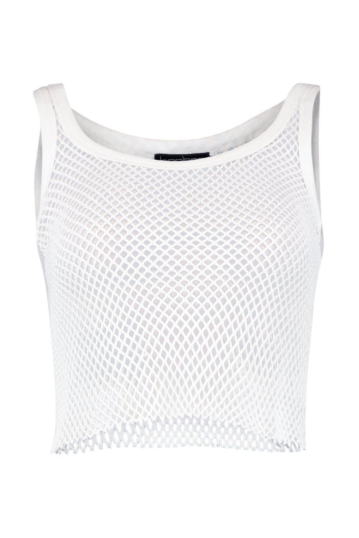 Fishnet String String Vest Vest String white white Fishnet Fishnet white Vest qaI8wICF