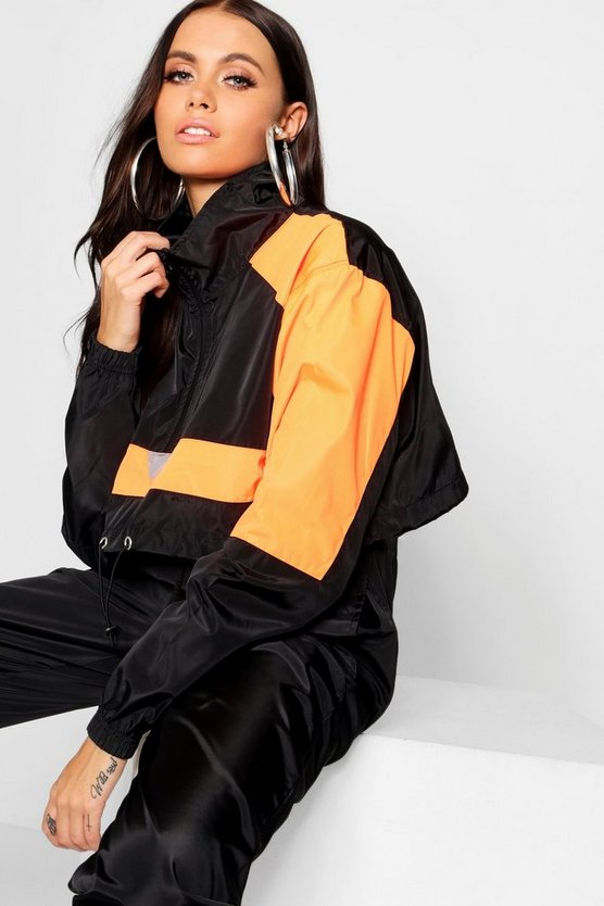 Colour Block Shell Tracksuit Top