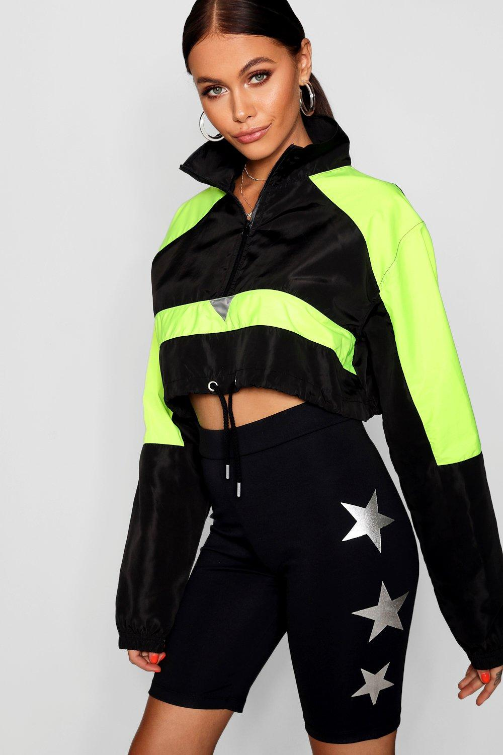 neon Tracksuit Block Shell Colour green Top EIFpxw88q