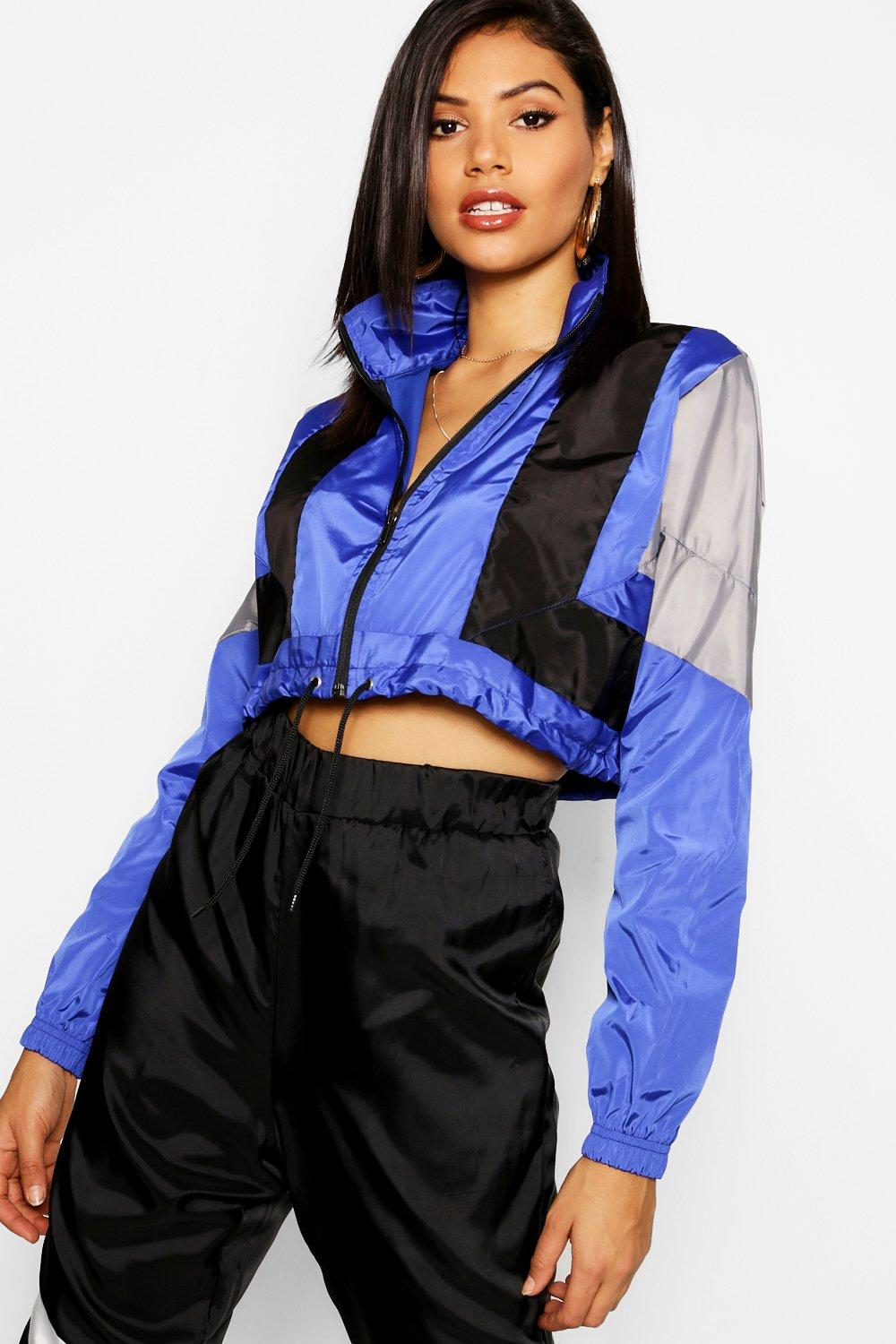 Colour Block cobalt Shell Top Tracksuit rrqwYF