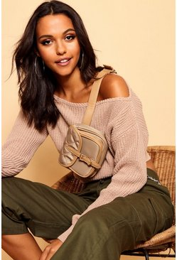Sand Slash Neck Crop Fisherman Jumper