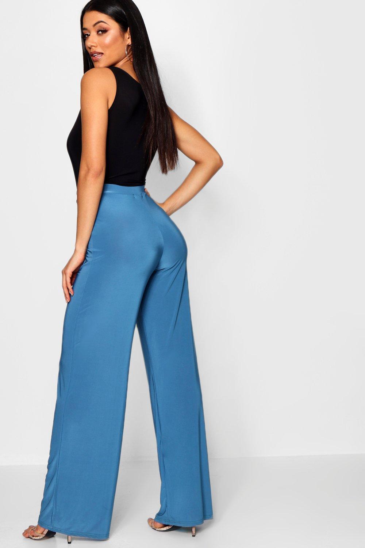 grey Wide Slinky Slinky Wide Leg Trousers EB1xYwXqw