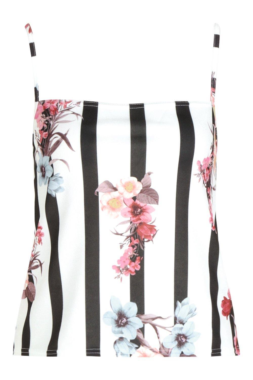 Cami Stripe Floral Floral Stripe white Print OBnO8R7