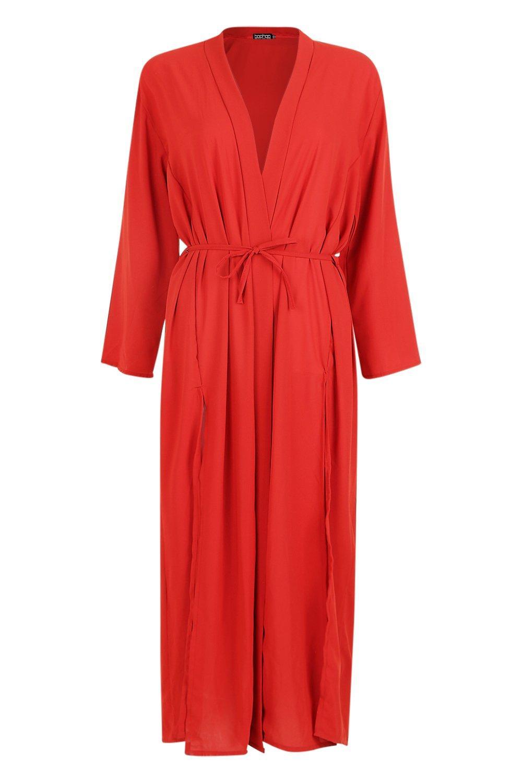 Kimono Maxi cinnamon cinnamon Woven Maxi Woven Woven Kimono Belted Maxi Belted Hg1gt0