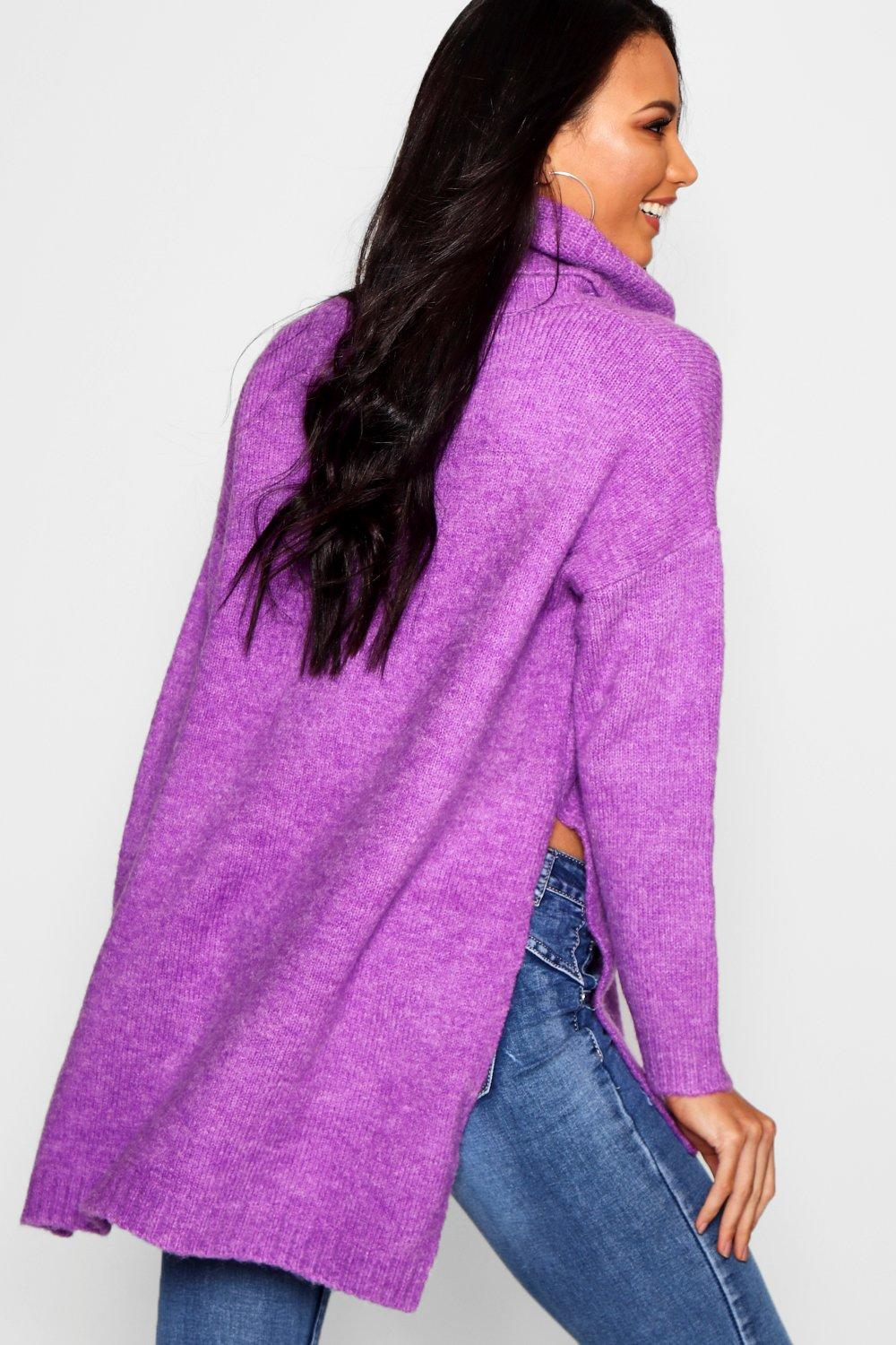 purple Roll Oversized Neck Jumper Premium RdnIAI