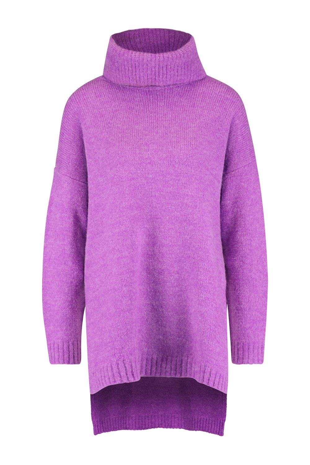 Roll Neck Premium Oversized Jumper purple vXxTw4qw