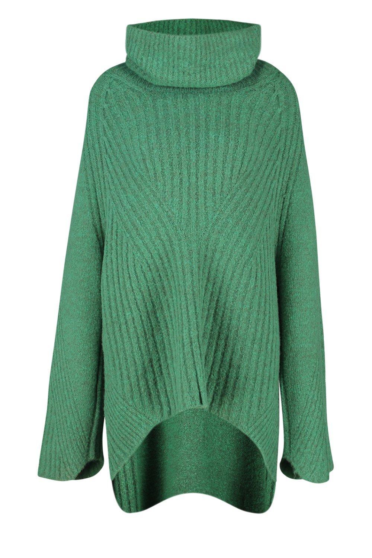 cobalt Jumper Premium Knit Neck Rib Roll RzFnZ
