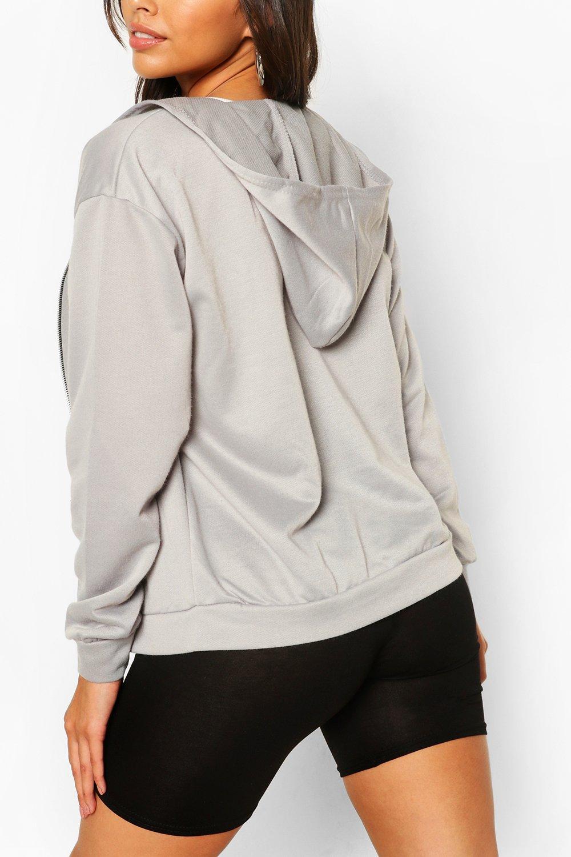 grey Hoody marl Through Basic Zip CtxqSS