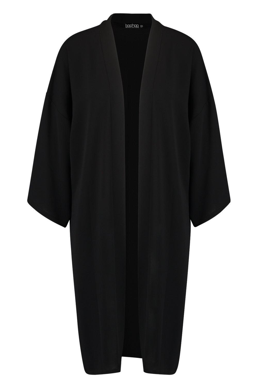 Woven Kimono Woven Woven Kimono black Oversized Oversized black Oversized 0AZxCYqwW