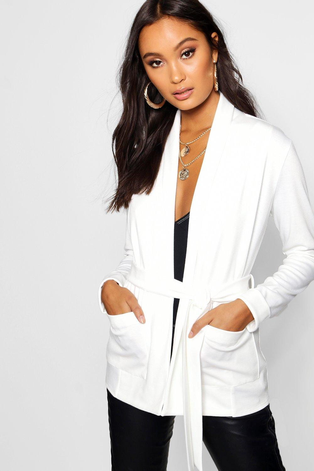 cream Pocket Kimono Kimono Belted Belted Pocket qRxxwHXn