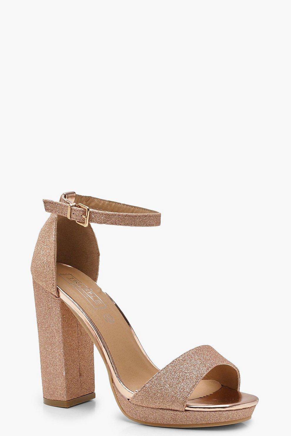 7e63d25a0aa9 Glitter Peeptoe Platform Heels