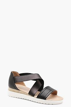 Multi Strap Cleated Sandals