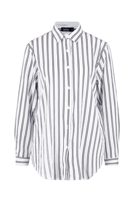 ancha Camisa rayas a blanco Camisa rayas blanco ancha Camisa a YBY4wT6q