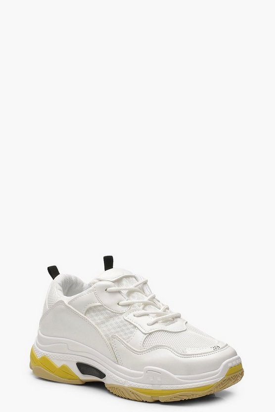 Chunky Colour Block Trainers