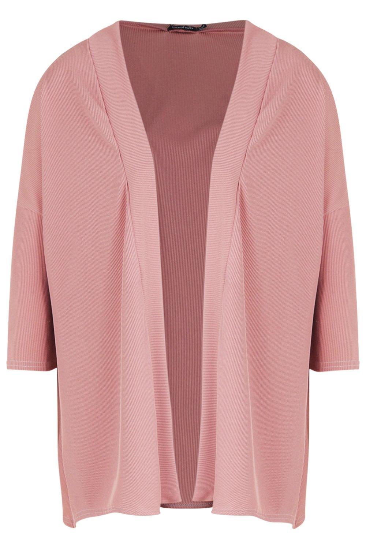 ancho pálido en Kimono rosa canalé qO0FId