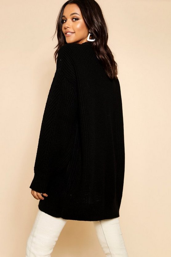 Slouchy Oversized Balloon Sleeve Cardigan