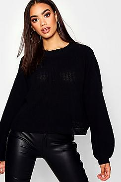 Oversized Balloon Sleeve Sweater