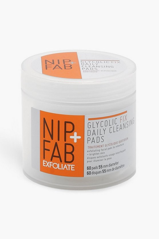 Womens Clear Nip + Fab Glycolic Fix Daily Face Cleansing 60 Pads