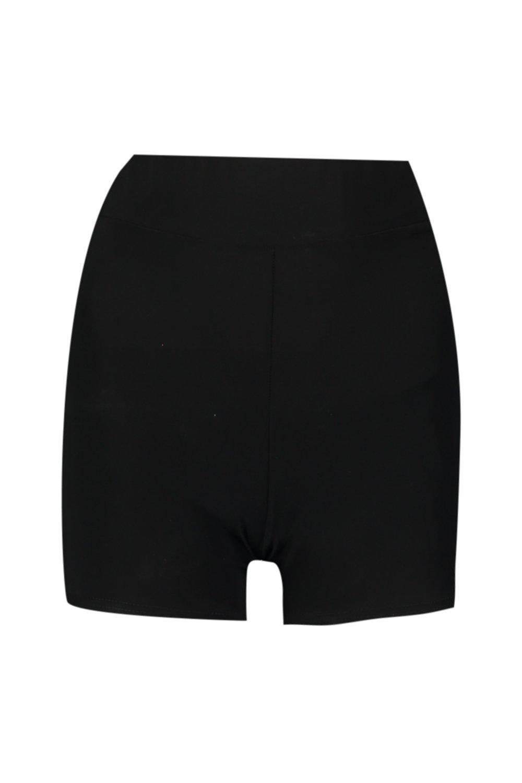 cortos de alta negro cintura ciclista Pantalones de zq6dxggP