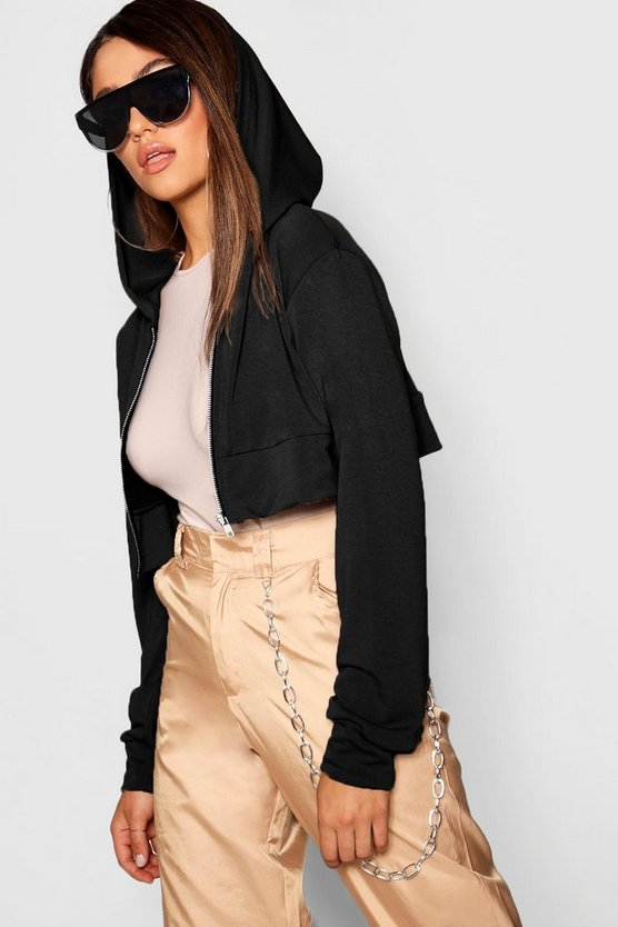 Cropped Oversized Hoody