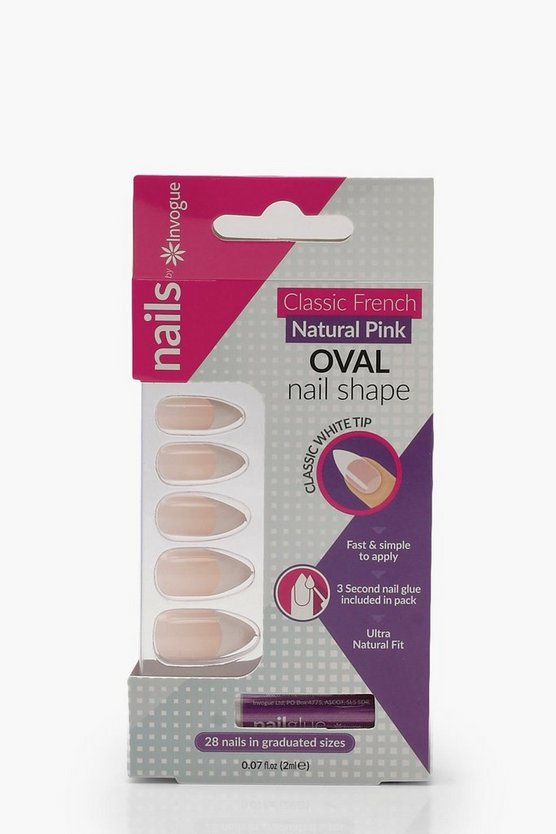 Invogue French Pink Oval False Nails