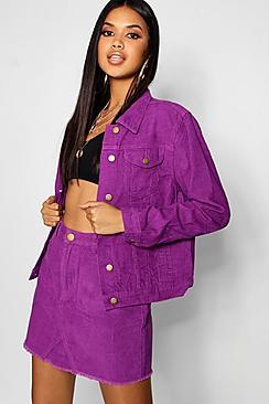 Cord Purple Denim Jacket