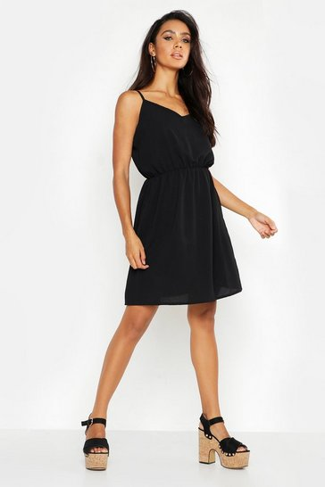 Womens Black Strappy Back Dress