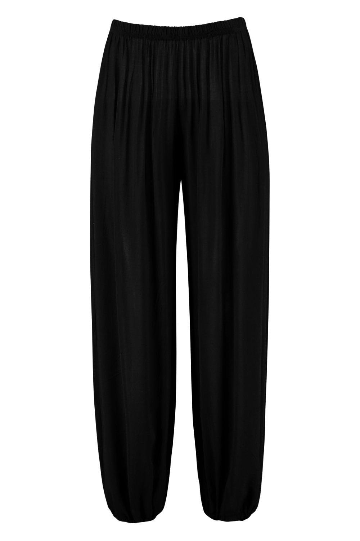 de negro ligeros correr de viscosa Pantalones wXq1ayd6X