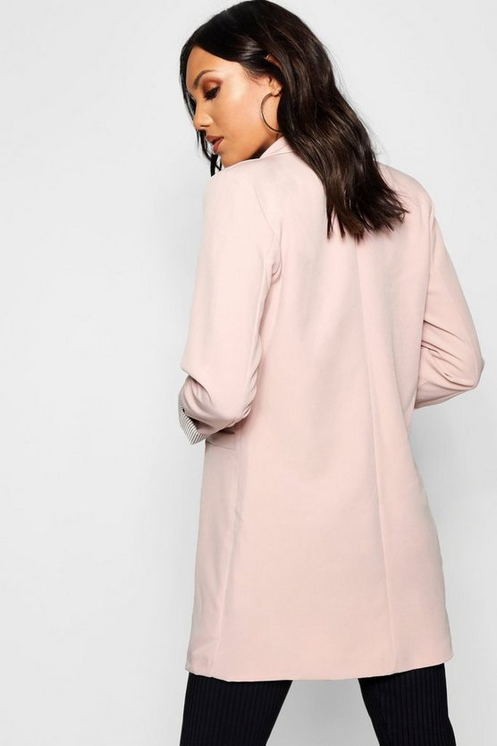 Single Button Longline Blazer Single Button Longline Blazer by Boohoo