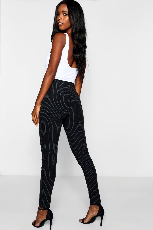 con Pantalones raya diplomática skinny negro F0pzw