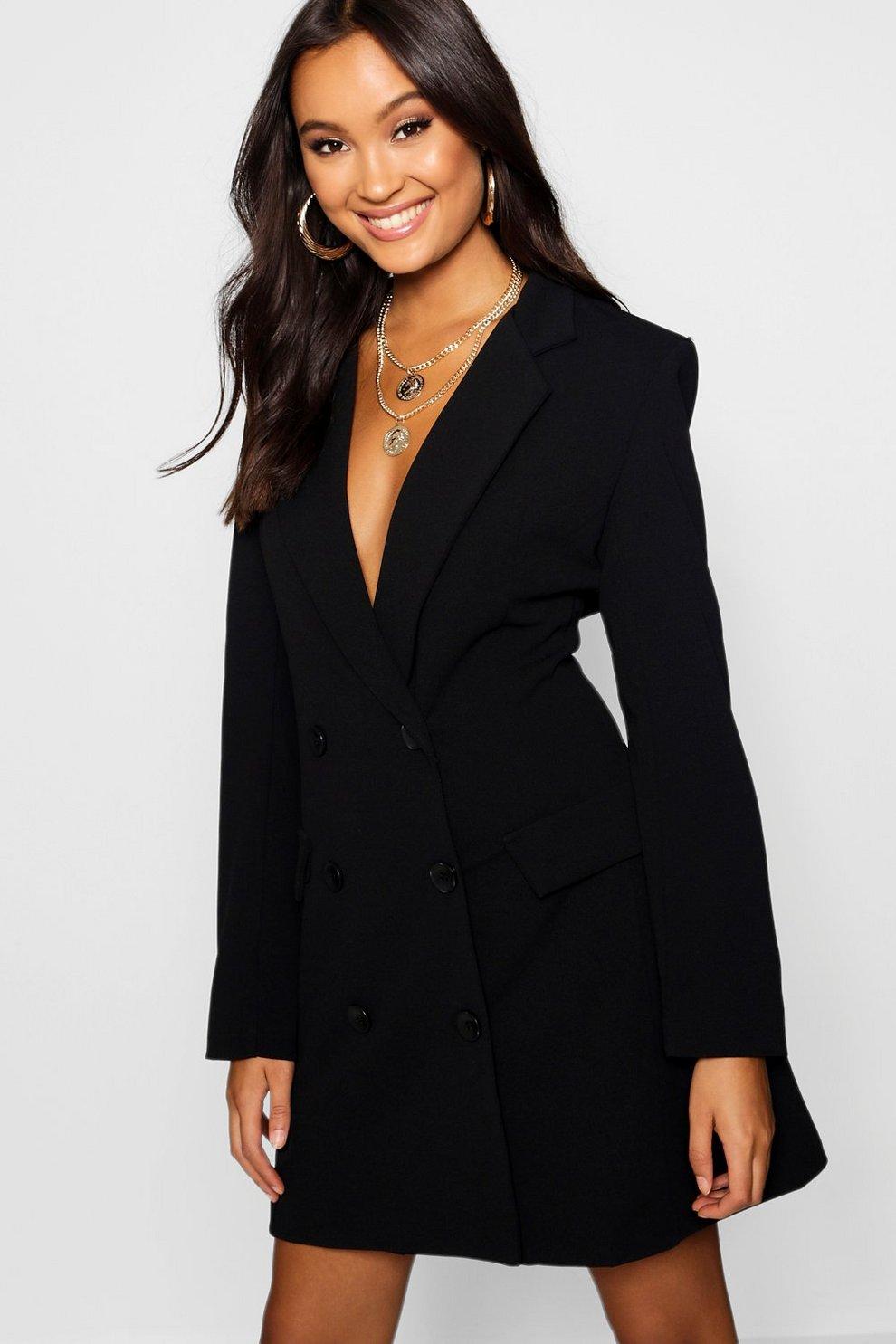 c4e1ea1dff29 Double Breasted Pocket Detail Blazer Dress | Boohoo